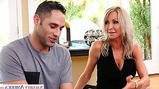 Hot busty mommy Emma Starr is fucked by hot blooded fellow of her son