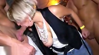 Men in club leaking anyone&rsquo_s pussy and fucking any one in same time