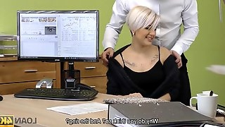 Lussy Sweet needs money for her business so seduces loan manager