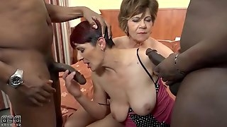Horny grannies are in the mood for a group fuck with a handsome, black man