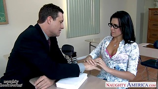 X-rated bibliophage Danica Dillan is face fucked by unpredictable intensify teacher