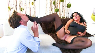 Chunky wife Romi Rain gets fucked hard by a unintended stranger
