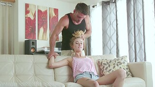 Hardcore fucking at home with small boobs blondie Haley Twiggy