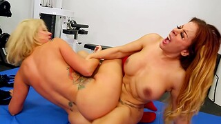 Busty cougars Nicky Ferrari and Savana Styles have erotic intercourse