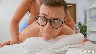 Hard vaginal mating concerning a younger hunk