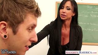 My first sex with fucking hot mature teacher Jewels Jade